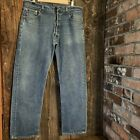 LEVIS Vintage 501 501XX Red Tab Medium Wash Button Fly Jeans 36x30 USA Read