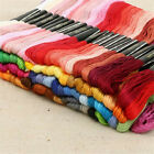 50pcs/lot Cross Stitch Cotton Embroidery Thread Yarn Floss Sewing Skeins Craft Q