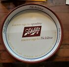 Vintage Schlitz Real Gusto Beer 1965 and Move up to Quality 1958 Trays Lot of 2