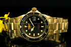 Invicta Pro Diver 18K Gold Plated 375MM Black Dial Gold Tone SS Bracelet Watch