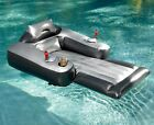 Motorized Pool Lounge Chair Float Silver Floating lounger with motor