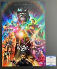 Paul Bettany & D'Esposito Dual Signed Marvel Avengers Infinity War 12x18 Beckett