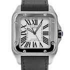 Cartier 2656 Santos 100 XL Stainless Steel Swiss Automatic Watch with Box