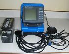 Lowrance X125 Depth Finder w Transducer Carry Case 12 V DC Battery w Charger