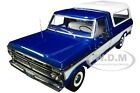 1975 FORD F 100 PICKUP TRUCK W BOX COVER BLUE 1 18 DIECAST CAR GREENLIGHT 13544
