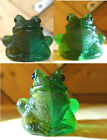 Green Frog Glass Collectable paperweight Desk Decor Figurine Swanky Barn