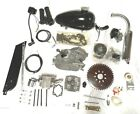 66 80cc Kit Assembly Bicycle Motorized 2 Stroke Gas Motor Engine 6mm NEW SILVER