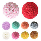 5Pcs 6 8 10 12 Silk Rose Pomander Flower Kissing Ball Wedding Party Venue Decor