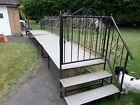 Static caravan steps varanda steel framed alloy deckfor 35ft vangood  solid