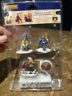 LEMAX VILLAGE COLLECTION -CHRISTMAS  SKIERS CAMP FIRE -SET OF 4 LIGHTED