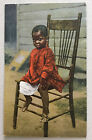 Black Americana Pc 1909 Trimmed A Bit Child On Chair