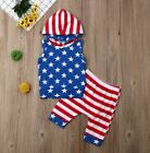 Boys Patriotic Fourth of July Hooded 2 Piece Set Boys Fourth of July Outfit