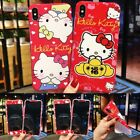 Cute Hello Kitty Red Lucky 2in1 Phone Case Cover For iPhoneXsMax 7 8Plus XR XS X