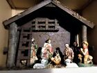 Vintage Christmas 1960s Paper Mache Japan Large Nativity Set in Original Box