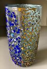 Murano Harlequin Art HUGE vase by Master glass maker Zecchin Signed