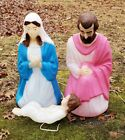 Vintage Empire Nativity Blow Mold Mary Joseph and Baby Jesus