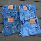 Mix Lot of 4 Vintage 1990s LEVIS 501 Made in USA Denim Jeans Mixed Sizes Wear