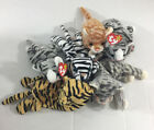 Vintage 90's Retired Beanie Babies*Silver, Stripes, Blizzard, Amber, Prance) NOS