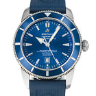 Breitling A17320 SOH Super Ocean Heritage 46 Blue Rubber Strap Swiss Box Papers