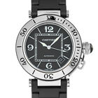 Cartier 2790 Seatimer Pasha Black Rubber Stainless Steel Swiss Automatic Watch