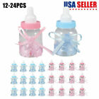 24 Fillable Baby Shower Candy Bottle Favors Blue Pink Party Decorations Gift NEW