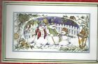 SNOW TRIO Snowman Family Christmas Picket Fence Counted Cross Stitch KIT