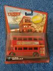 DISNEY Pixar Cars 2 Deluxe  4 DOUBLE DECKER BUS  NIP  RARE  2010