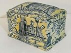 Japanese Design Fabric Covered Trinket Box or Makeup Box