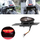 Motorcycle Led Brake Tail Light Turn Signal License Plate Mount Cafe Racer KY3