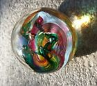 SELKIRK Multicolor Art Glass Paperweight Hand made in Scotland