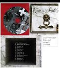 American Gothic Dead Things CD Inlay Booklet Only NO JEWEL CASE Goth Metal Rock