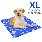 Gel Cooling Mat Cooler f Dog Cat Pet Self cooling Cushion Pad Hot SUMMER Bed XL