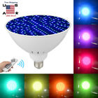 45W RGB Colorful 252LED Swimming Pool Light Bulb 120V E27 Remote Control Decor