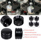 Black Head Bolt/Nut Covers Spark Plugs Side Case For Harley Big Twin 1340 Evo US