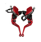 Motorcycle Master Cylinder Reservoir Brake Clutch Hydraulic Levers 7/8in pair