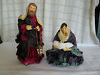 Hand painted paper mache Holy family nativity figure replacement pieces