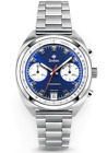 NEW Zodiac Grandrally Chronograph Blue Stainless Steel Men's Watch ZO9601 NIB