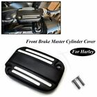 Motorcycle Black Brake Fluid Reservoir Cap Cover For Harley Davidson FLHR FLHX