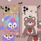 Hello Rabbit Bear Couple Cute Cartoon Phone Case Cover For iPhone11Pro 7 8 XR XS