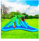 Crocodile Inflatable With Two Water Slides Kids Outdoor Play Activity