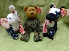 Ty Beanie Babies Collection - RIGHTY 2000, LEFTY 2000 and HERO 2003
