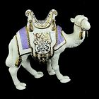 Lenox Camel First Blessing Nativity 7 Porcelain Figurine 760384 Purple Rug