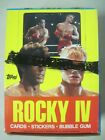 1985 TOPPS ROCKY IV TRADING CARD BOX OF 36 SEALED PACKS SYLVESTER STALLONE