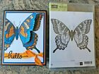 Stampin Up Swallowtail Rubber Stamp Large Butterfly Retired  Sample Card