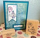 Stampabilities Fluffles Cat Birthday Rubber Stamp  Stampin Up Always  Card