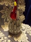 Murano Italy Art Glass Large Rooster CRISTALLERIA COLLECTION purple stripes 5