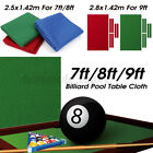 Professional Billiard Pool Table Cloth Mat Cover Felt Accessories For 7 8 9FT