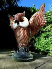 Murano glass with owl design heavy over 4 kg home cottage decor art collector