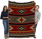Native American Tribal Inspired Indian Camp Blanket Throw Rug Woven Tapestry Cot