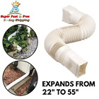 Expandable 25 55 Flex Drain Downspout Extension Rain Pipe Spout Gutter Flexible